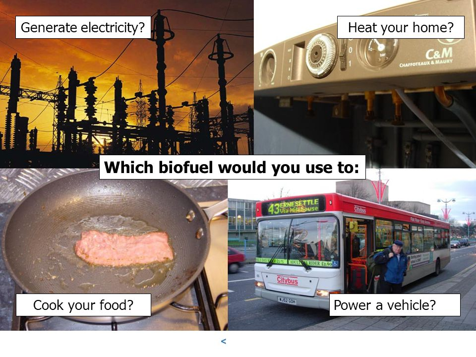 Which biofuel would you use to: