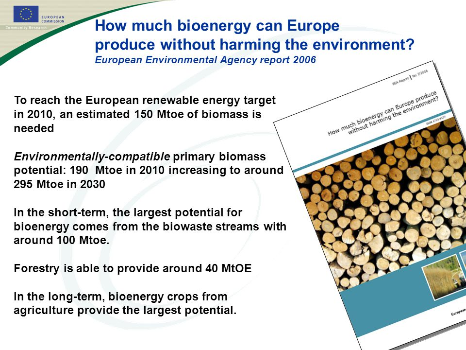 How much bioenergy can Europe produce without harming the environment