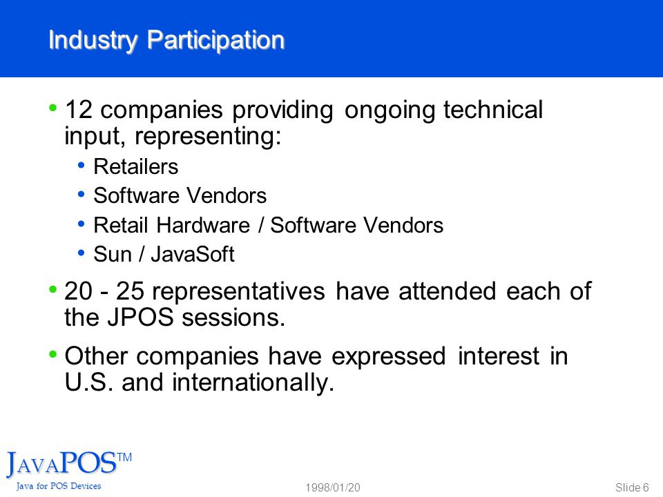 JAVAPOSTM Java for POS Devices - ppt video online download