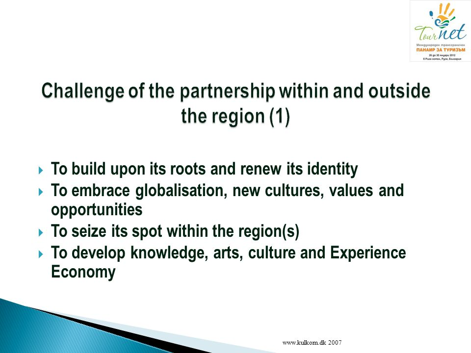 Challenge of the partnership within and outside the region (1)