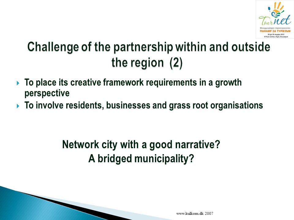 Challenge of the partnership within and outside the region (2)