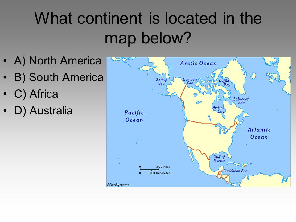 What continent is located in the map below