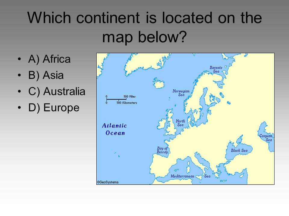 Which continent is located on the map below
