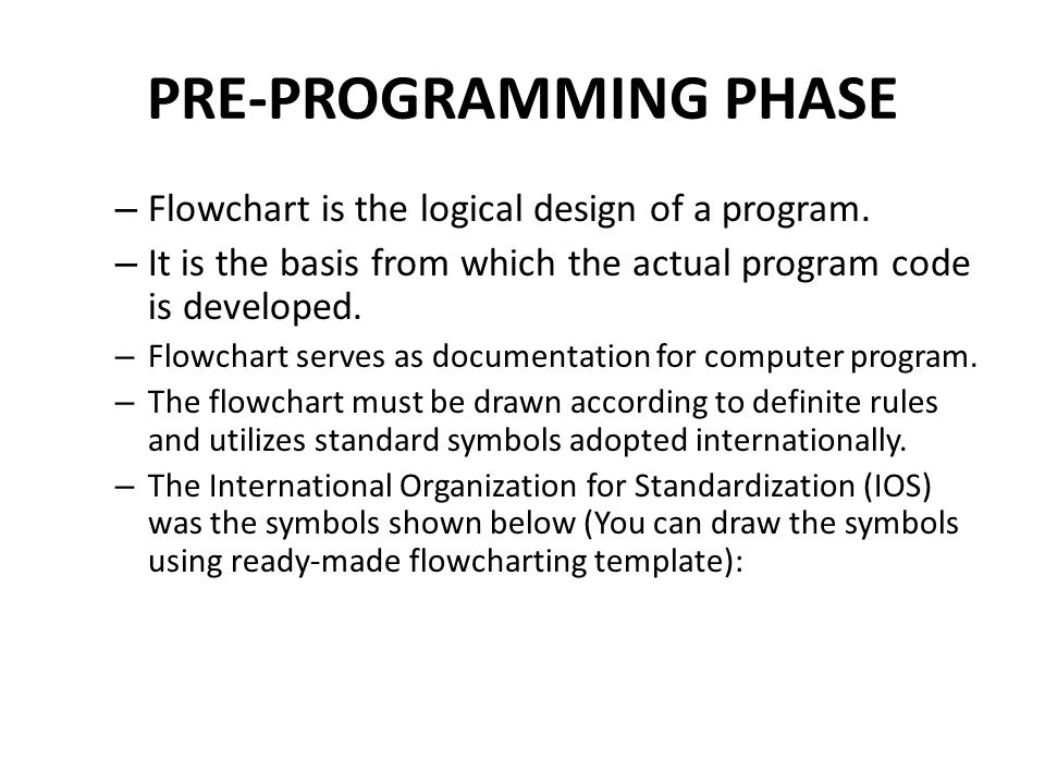 Pre Programming Phase Ppt Video Online Download