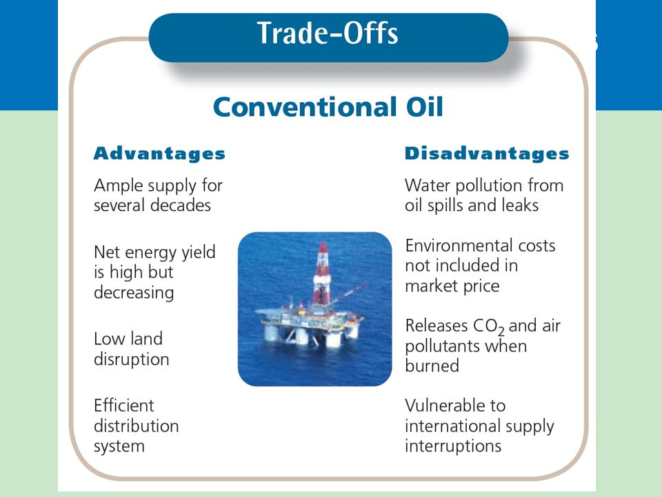 Crude oil use has advantages and disadvantages