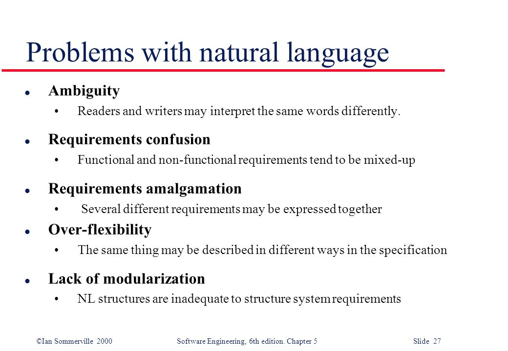 Problems with natural language