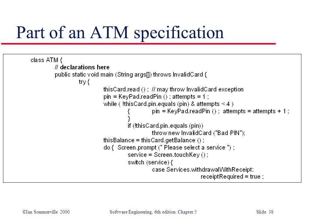 Part of an ATM specification