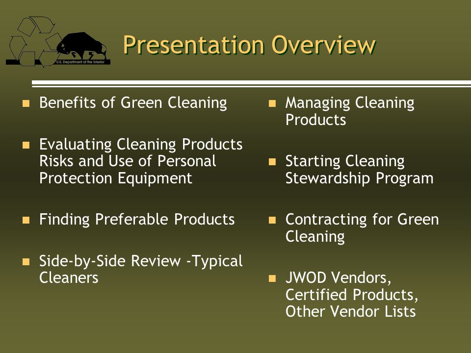 Green Janitorial Operations Ppt Video Online Download