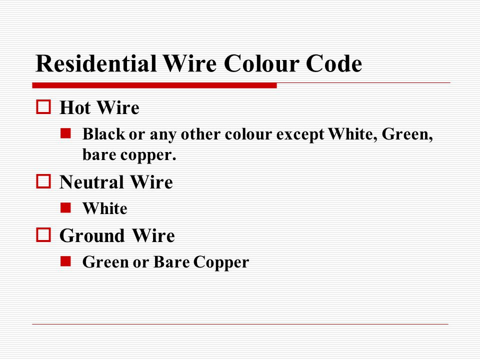 Wiring skill trades ppt download residential wire colour code greentooth Choice Image