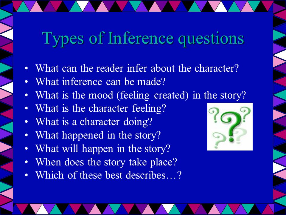Types of Inference questions