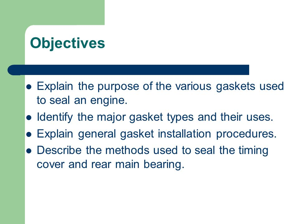 Automotive Bearings and Sealants - ppt video online download