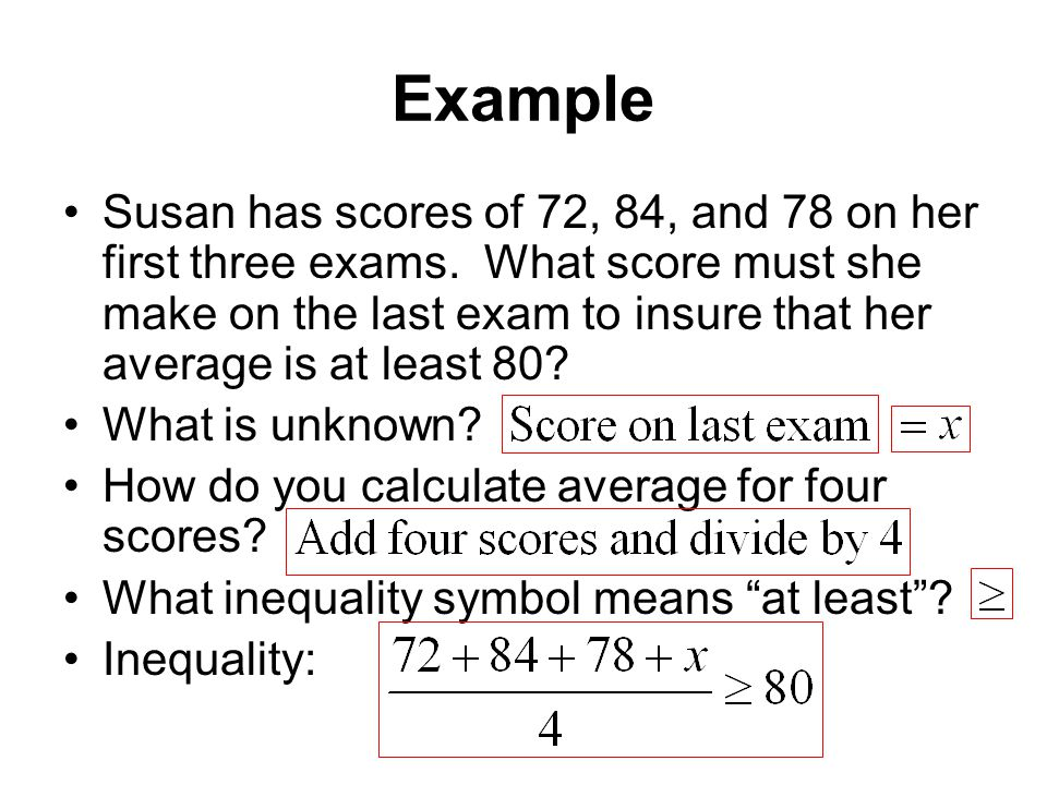 Exam 3 Material Formulas Proportions Linear Inequalities Ppt