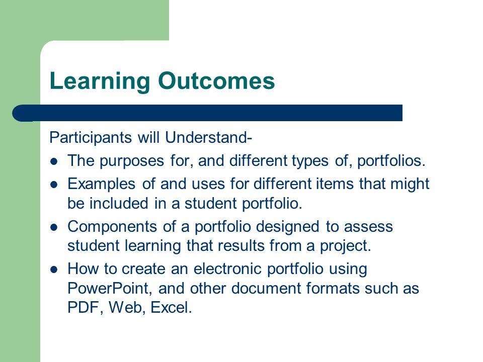 E-Portfolios for Students - ppt video online download