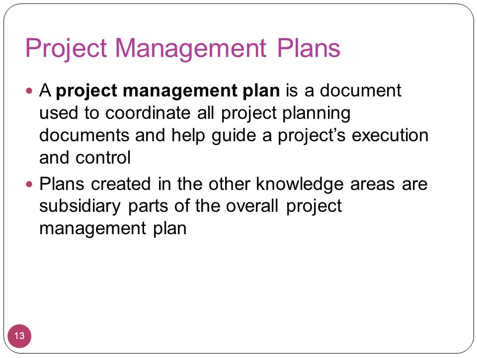 Project Management Plans