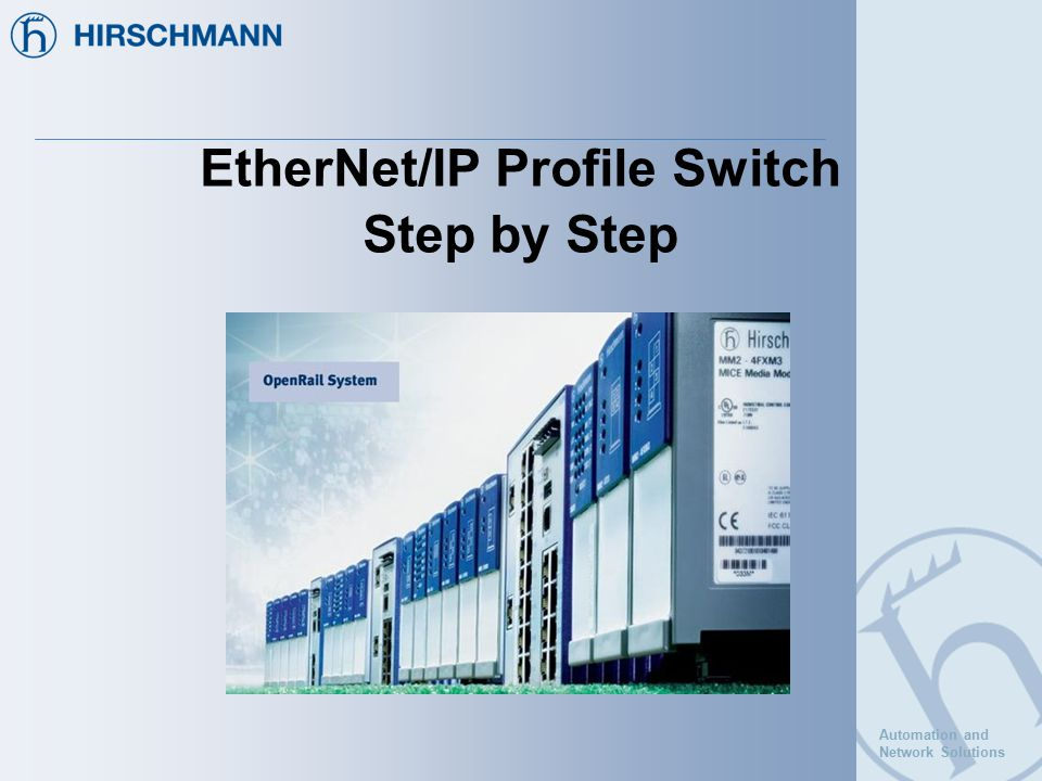EtherNet/IP Profile Switch Step by Step - ppt download