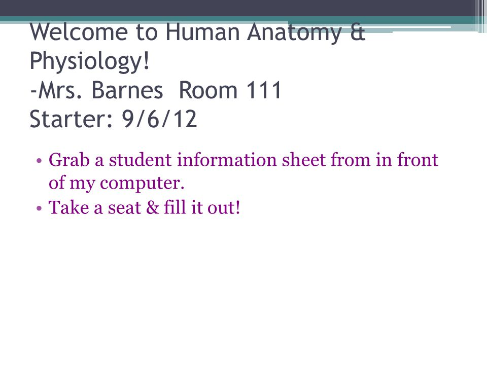 Welcome to Human Anatomy & Physiology. -Mrs - ppt download