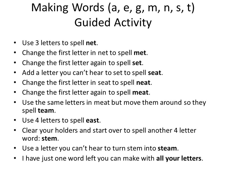 turn letters into words agenda for today review and review quiz ppt 15284