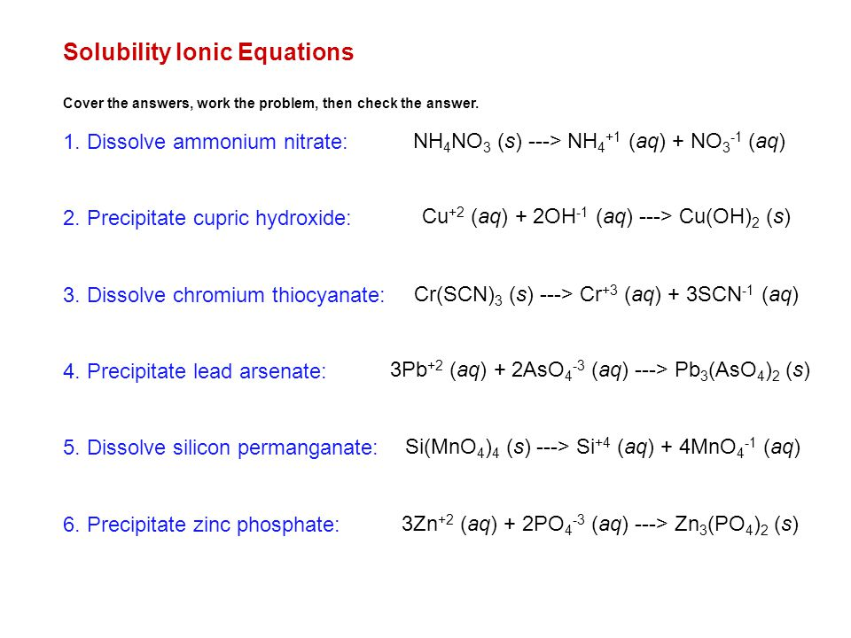 Chemical Equations Reactions Ppt Download. Solubility Ionic Equations. Worksheet. Worksheet Ionic Equations Answers At Mspartners.co