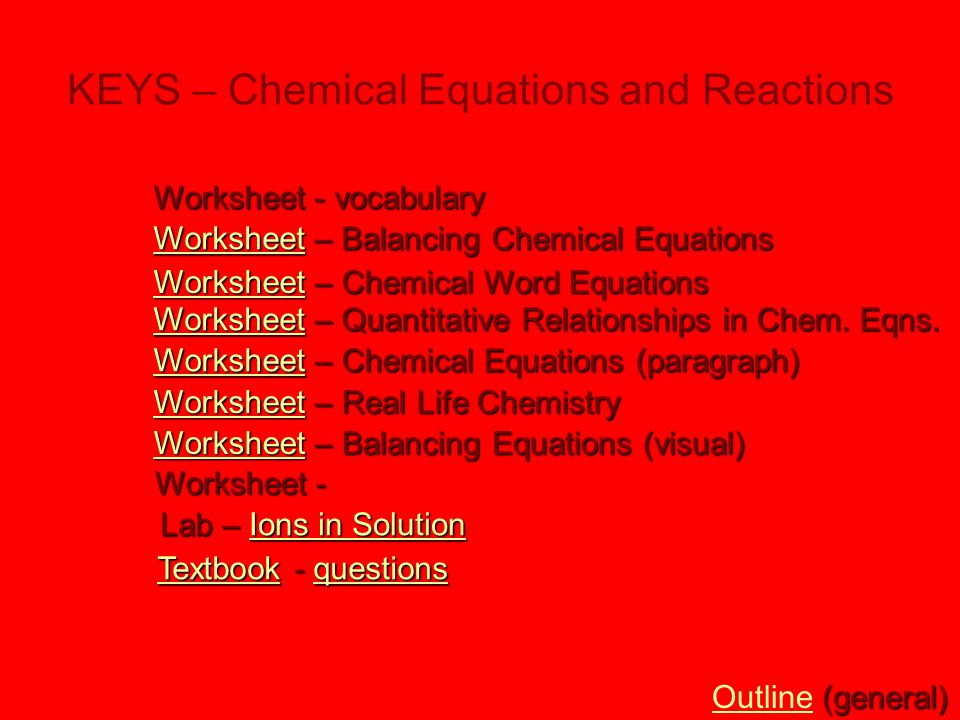 Chemical Equations Reactions Ppt Download. Keys Chemical Equations And Reactions. Worksheet. Balancing Chemical Equations Worksheet Reaction Type At Clickcart.co