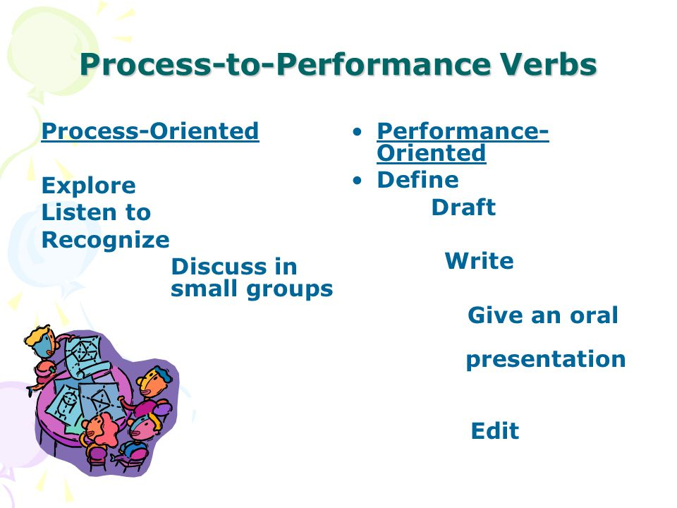 Process-to-Performance Verbs