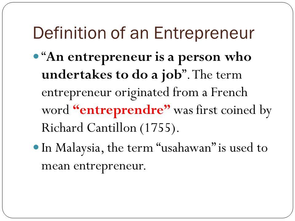 cantillon entrepreneur definition