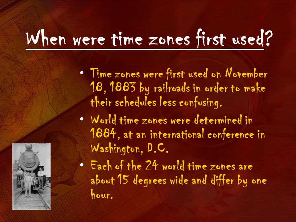 When were time zones first used