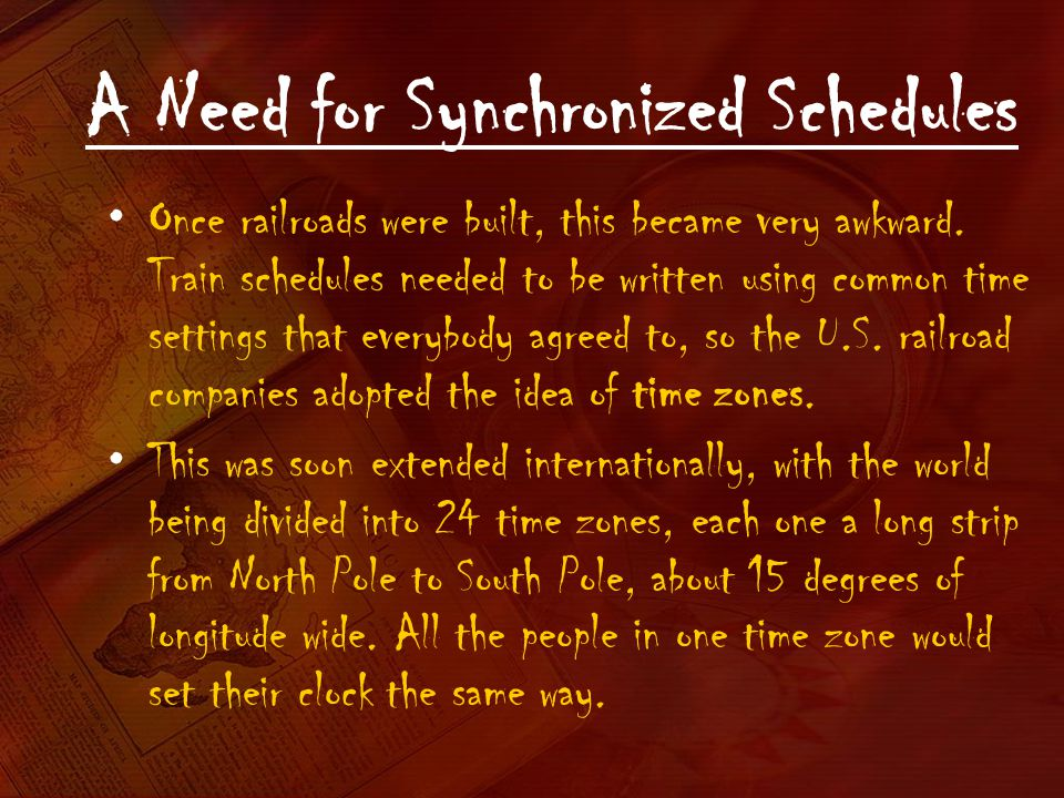 A Need for Synchronized Schedules