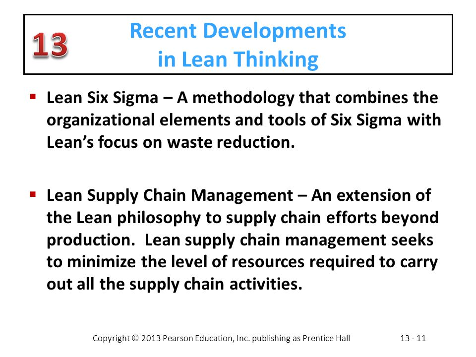 Recent Developments in Lean Thinking