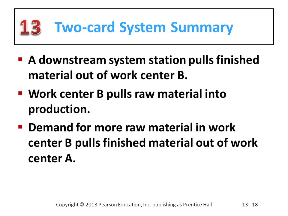 Two-card System Summary
