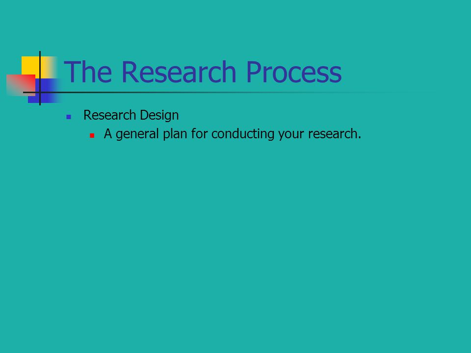 The Research Process Research Design