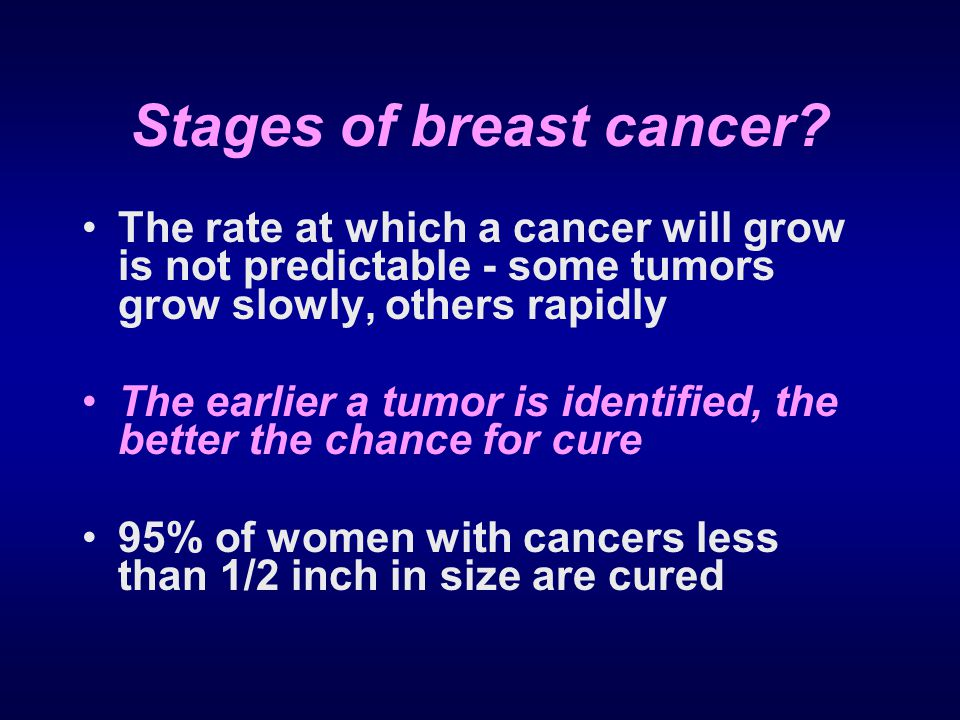 Stages of breast cancer