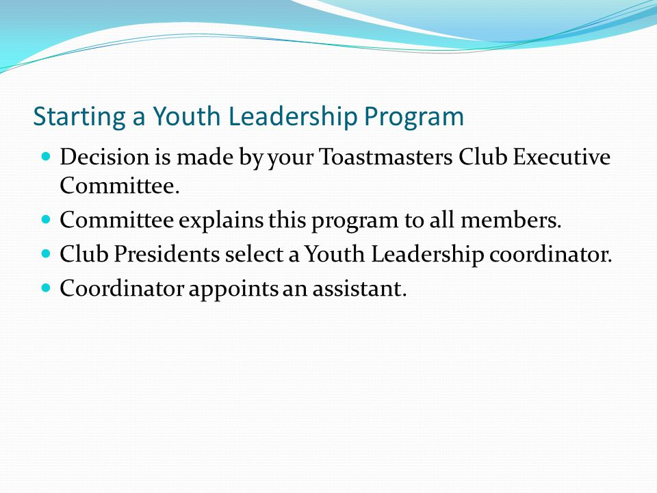 Starting a Youth Leadership Program