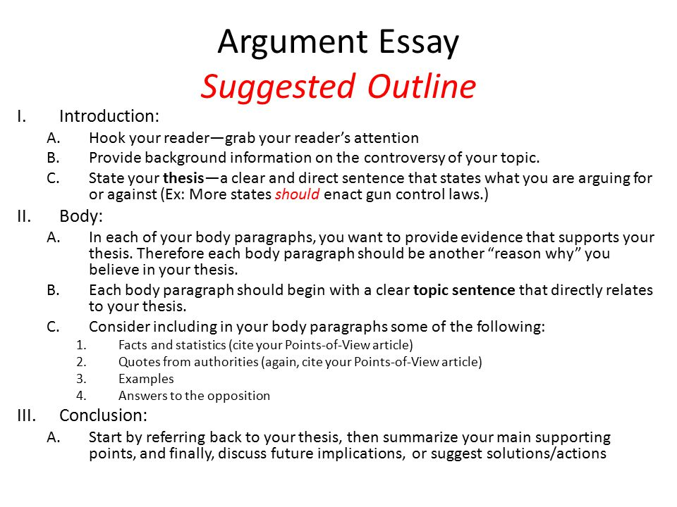 argument persuasion essay outline Persuasive essay outline outline - the outline for persuasive essay consists of three major parts: introduction, body paragraphs, and conclusion each of these parts can be divided into subsections that keep you focused on your argument without risking wandering off the topic.