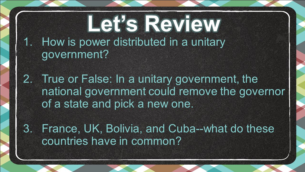 does france have a unitary government