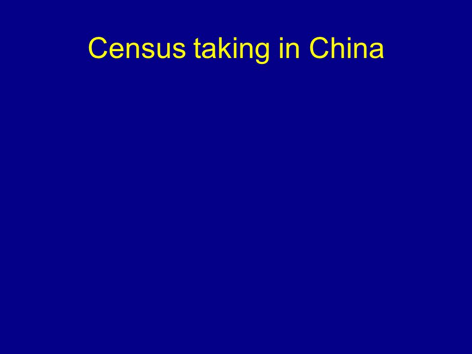 Census taking in China
