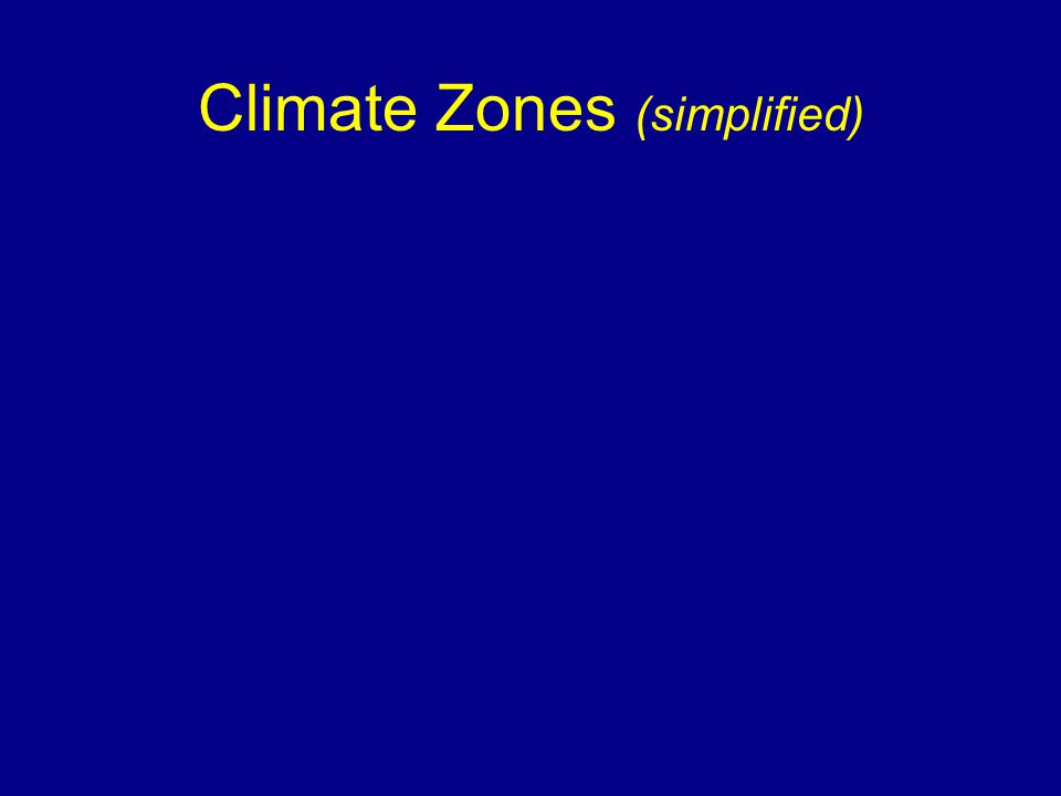 Climate Zones (simplified)