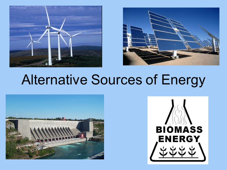 the alternative sources of energy