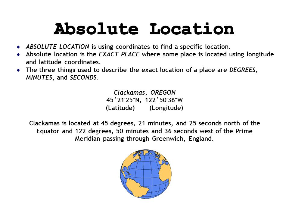 Finding Your Location Throughout the World - ppt video