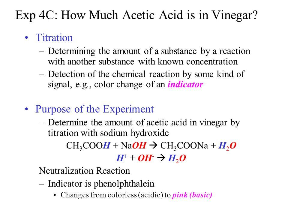 Exp 4C: How Much Acetic Acid is in Vinegar? - ppt video online download