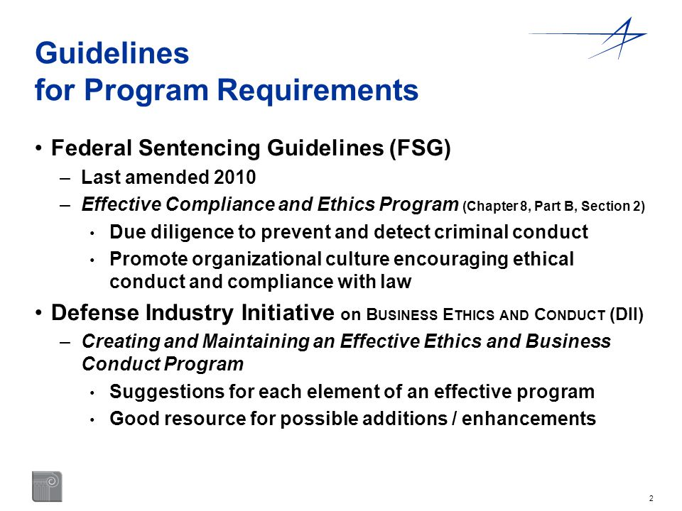 Guidelines for Program Requirements
