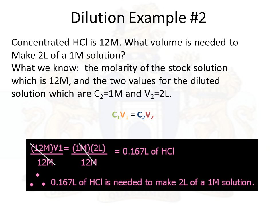 how to know wgich dilution to used