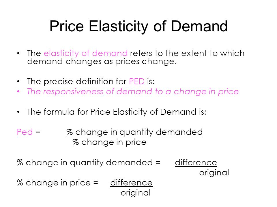Price Elasticity Of Demand Ppt Video Online Download