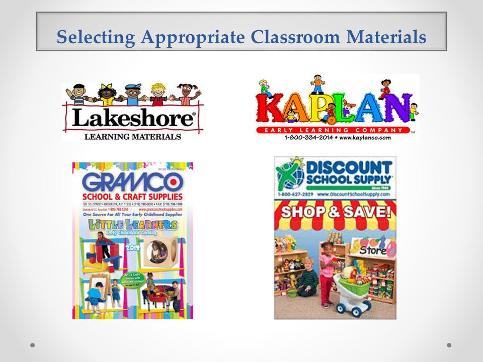 Selecting Appropriate Classroom Materials