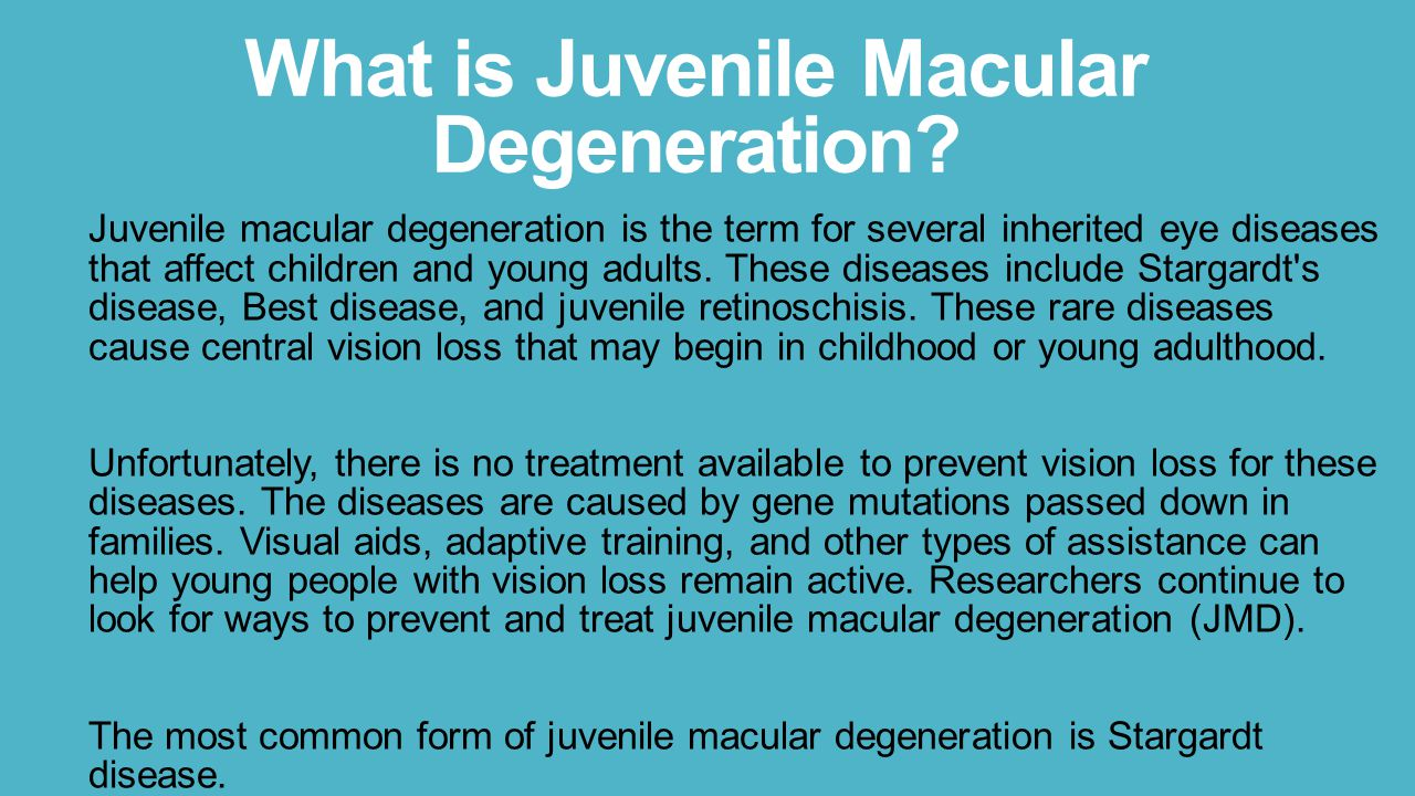 degeneration macular Adult