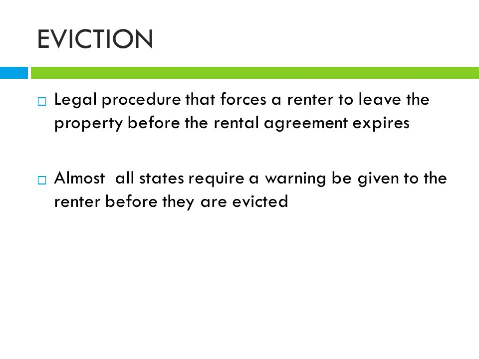 Financial Legal Aspects Of Renting Ppt Download