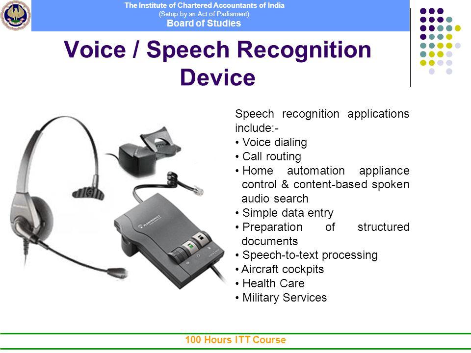 speech input devices