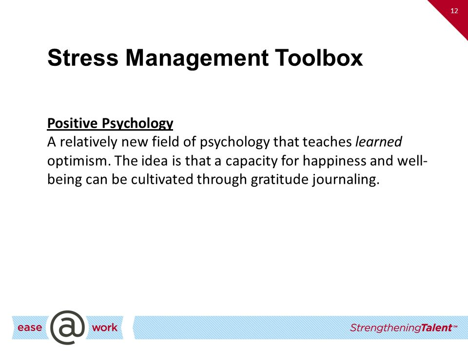 Stress Management Toolbox