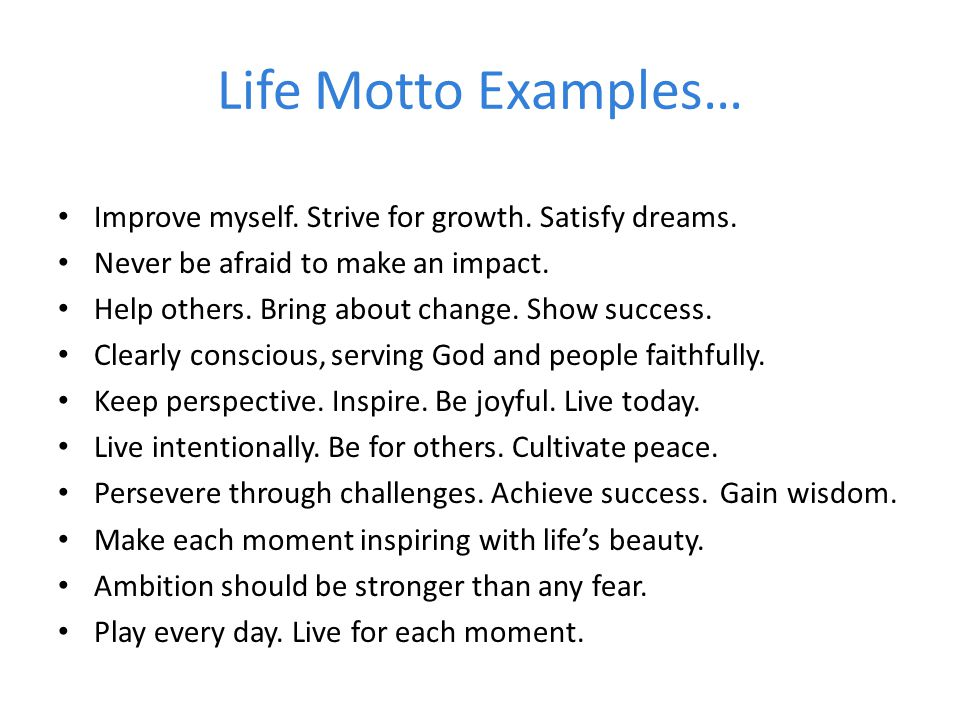 Motto examples gallery example of resume for student.