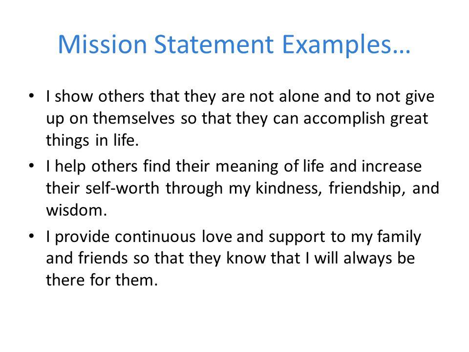 life statement examples