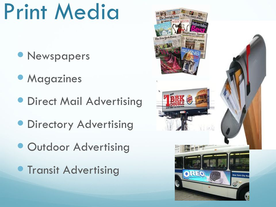 Print Media Newspapers Magazines Direct Mail Advertising